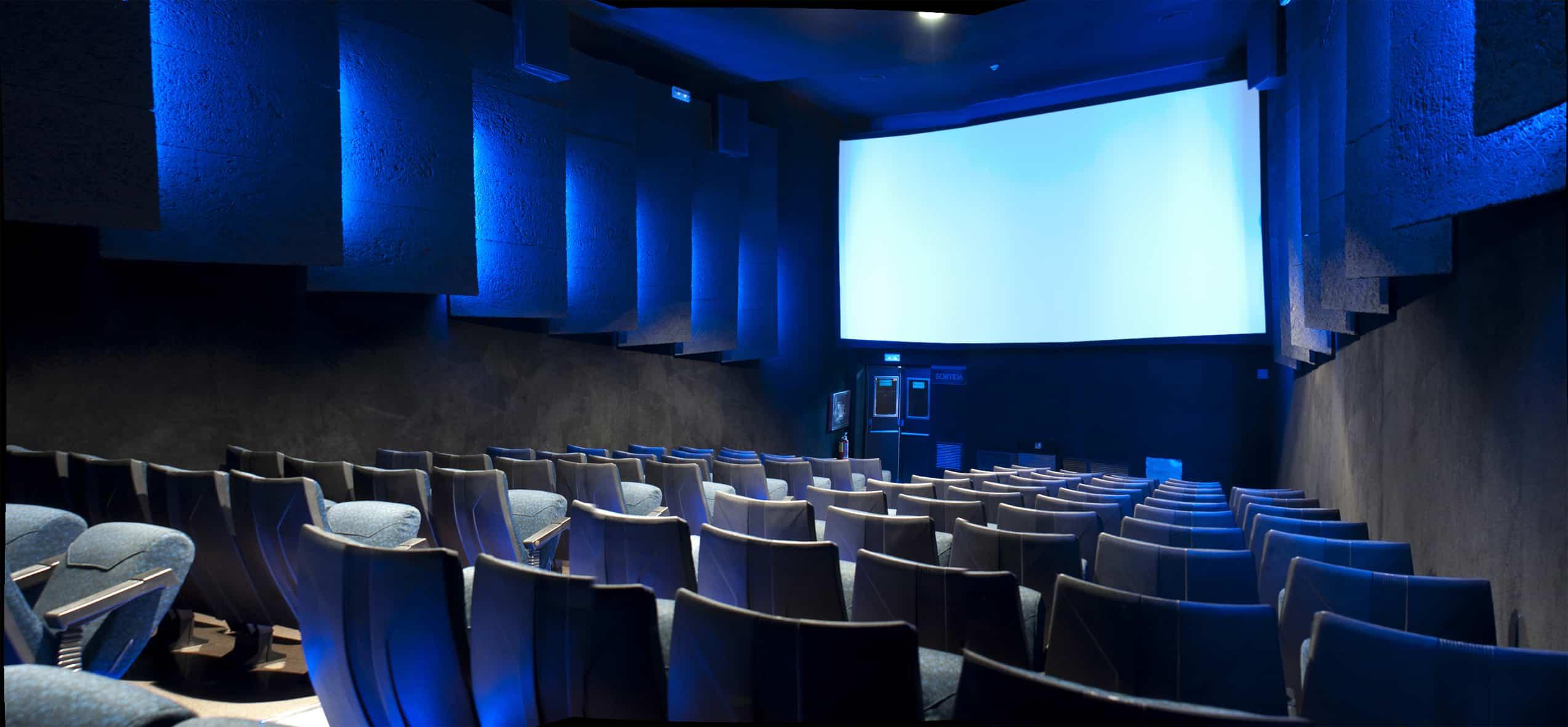 estructura de las salas de cine