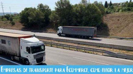 como elegir la mejor empresa de transporte para ecommerce